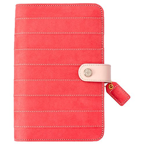 Websters Pages - Color Crush Collection - Personal Planner Kit - Pink Stitched Stripe - Undated