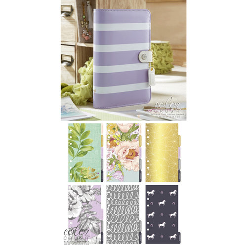Websters Pages - Color Crush Collection - Personal Planner Kit - Lavender Stripe - Undated