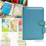 Websters Pages - Color Crush Collection - Personal Planner Kit - Sky