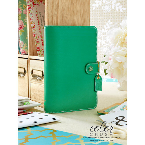 Websters Pages - Color Crush Collection - Personal Planner Kit - Summer Green - Undated