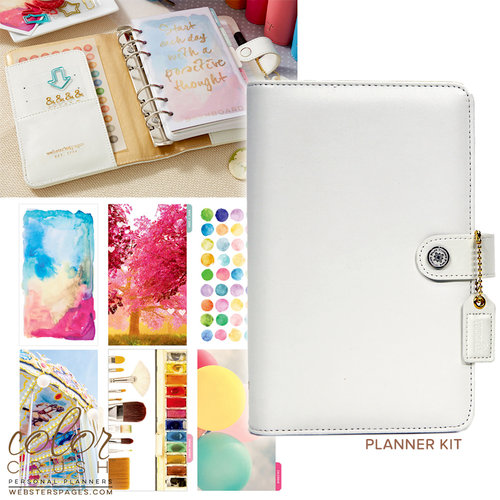 Websters Pages - Color Crush Collection - Personal Planner Kit - White