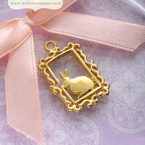 Websters Pages - Perfect Bulks - Metal Embellishments - Bunny Charm