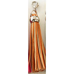 Websters Pages - Color Crush Collection - Charms - Tassel - Orange
