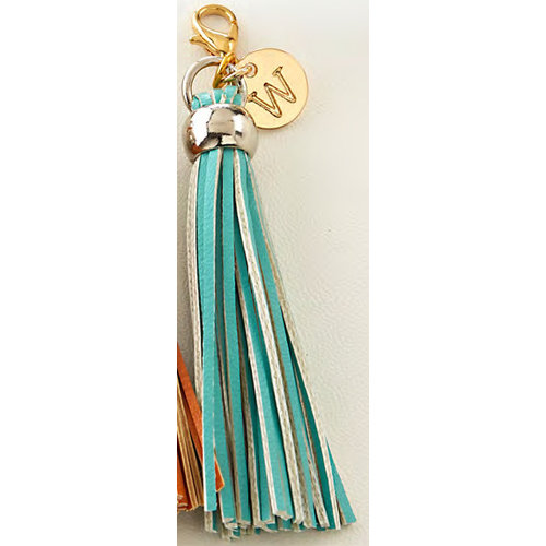 Websters Pages - Color Crush Collection - Charms - Tassel - Teal