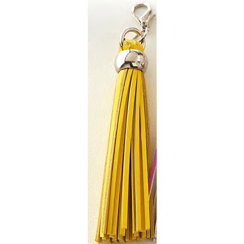 Websters Pages - Color Crush Collection - Charms - Tassel - Yellow