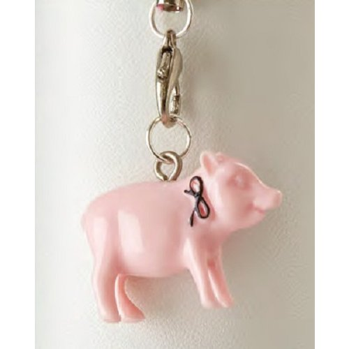 Websters Pages - Color Crush Collection - Charms - Pink Piggy