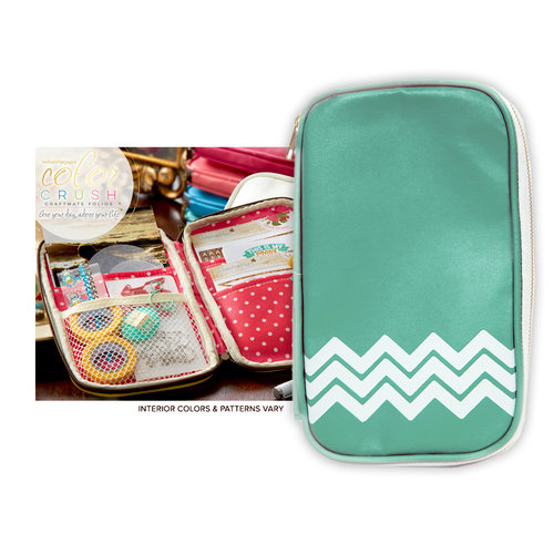 Websters Pages - Color Crush Collection - CraftMate Folio - Light Teal