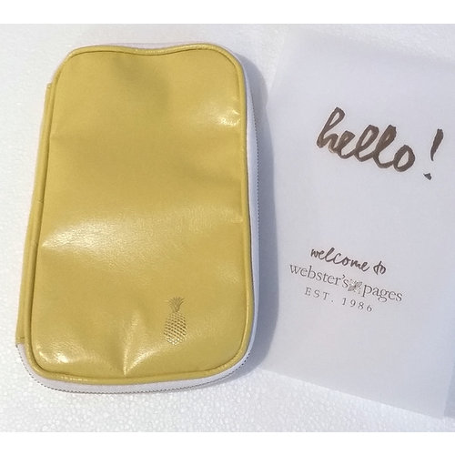 Websters Pages - Color Crush Collection - CraftMate Folio - Yellow