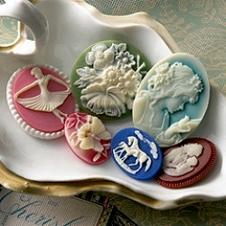 Websters Pages - Silhouettes - Resin Cameo Pieces - Variety, BRAND NEW