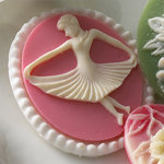 Websters Pages - Silhouettes - Resin Cameo Pieces - Ballerina