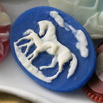 Websters Pages - Silhouettes - Resin Cameo Pieces - Horses