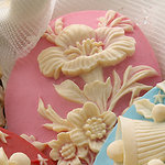 Websters Pages - Silhouettes - Resin Cameo Pieces - Pink Floral