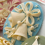 Websters Pages - Silhouettes - Resin Cameo Pieces - Blue Bells