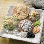 Websters Pages - In Love Collection - Perfect Accents - Resin Cameo Pieces