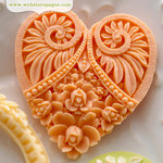 Websters Pages - Modern Romance Collection - Perfect Bulks - Resin Embellishment Pieces - Hearts
