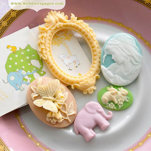 Websters Pages - New Beginnings Collection - Perfect Accents - Resin Embellishment Pieces