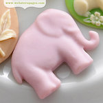 Websters Pages - New Beginnings Collection - Perfect Bulks - Resin Embellishment Pieces - Elephant