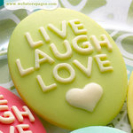 Websters Pages - Perfect Bulks - Resin Embellishment Pieces - Live Love Laugh Cameos - Green