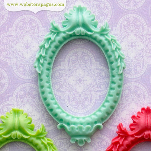 Websters Pages - Perfect Bulks - Resin Embellishment Pieces - Frame - Blue