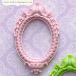 Websters Pages - Perfect Bulks - Resin Embellishment Pieces - Frame - Violet