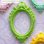Webster's Pages - Perfect Bulks - Resin Embellishment Pieces - Frame - Green