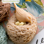 Websters Pages - Perfect Bulks - Resin Embellishment Pieces - Nesting Birds - Cream