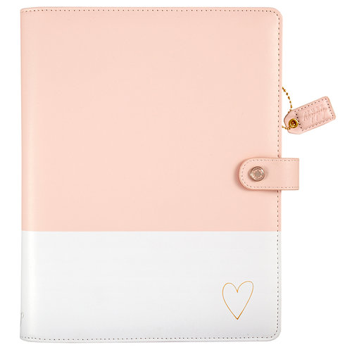 Websters Pages - Color Crush Collection - Composition Planner - Blush and Gold Heart