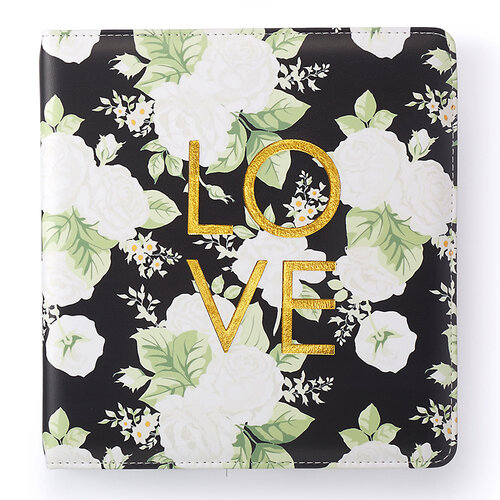 Websters Pages - Color Crust Collection - Creative Photo Album - Small - Black Floral