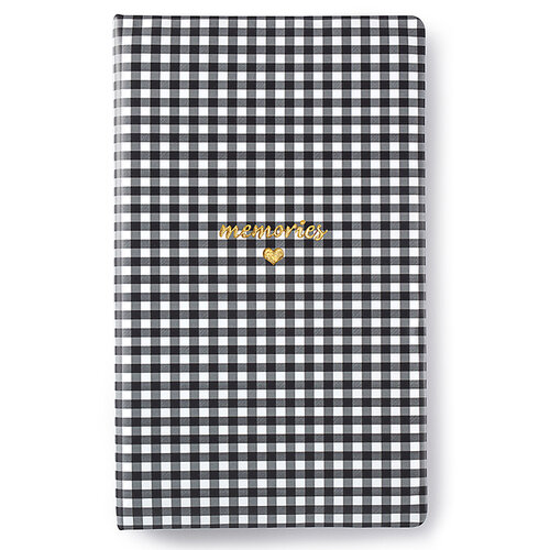 Websters Pages - Color Crush Collection - Creative Photo Album - Tall - Black Check