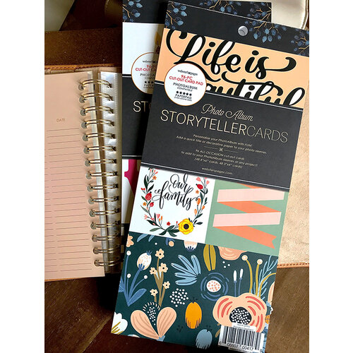Websters Pages - Color Crush Collection - Storyteller Photo Album Cards Pad