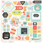 Websters Pages - Our Travels Collection - 12 x 12 Chipboard Stickers