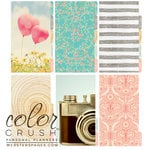 Websters Pages - Color Crush Collection - Personal Planner Divider Kit - Dip Dye - Gold