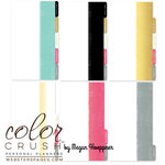 Websters Pages - Color Crush Collection - Personal Planner Divider Kit - Dip Dye - Teal