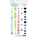 Websters Pages - Color Crush Collection - Enamel Dots Pack - Days