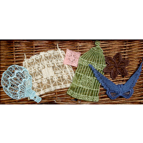 Websters Pages - Postcards from Paris Collection - Whimsy Threads - le Jardin