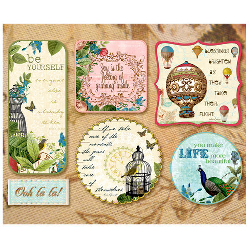 Websters Pages - Postcards from Paris Collection - Fabric Fancies - Tags - Paris
