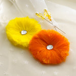 Websters Pages - Let's Celebrate Collection - Feather Flowers and Pins