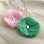 Websters Pages - Winter Fairy Tales Collection - Feather Flowers and Pins