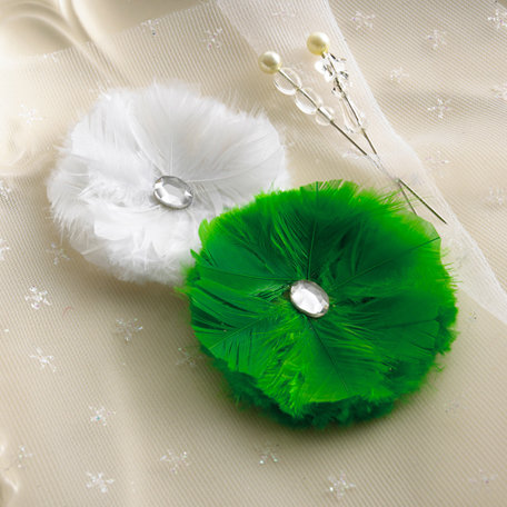 Websters Pages - A Botanical Christmas Collection - Feather Flowers and Pins