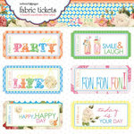 Websters Pages - Let's Celebrate Collection - Fabric Tickets
