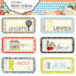 Websters Pages - All About Me Collection - Fabric Tickets