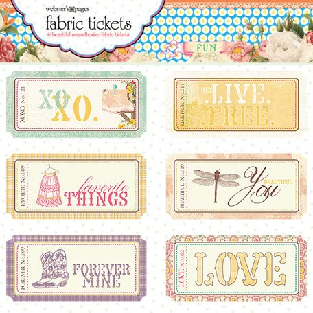 Websters Pages - Western Romance Collection - Fabric Tickets