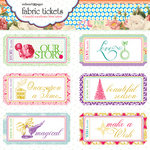 Websters Pages - Winter Fairy Tales Collection - Fabric Tickets