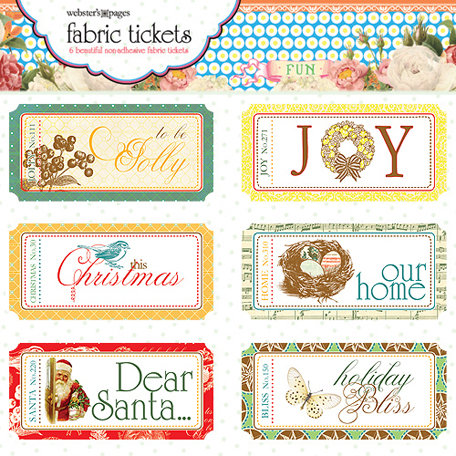 Websters Pages - A Botanical Christmas Collection - Fabric Tickets