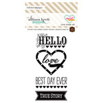 Websters Pages - Sweet Notes Collection - Cling Mounted Rubber Stamp Set - Love