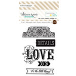Websters Pages - Composition and Color - Cling Mounted Rubber Stamp Set - The Little Things