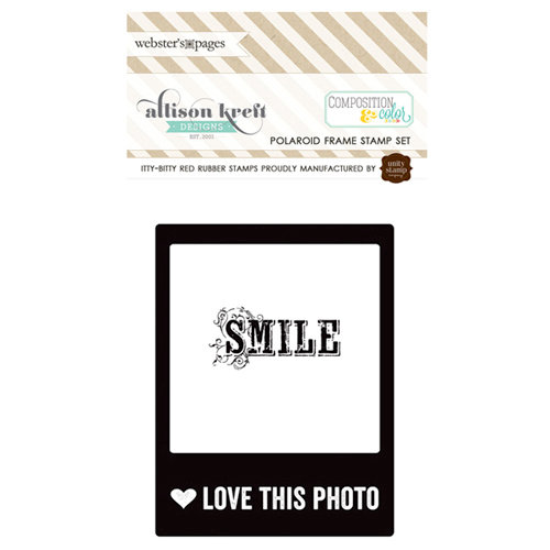 Websters Pages - Composition and Color - Cling Mounted Rubber Stamp Set - Polaroid