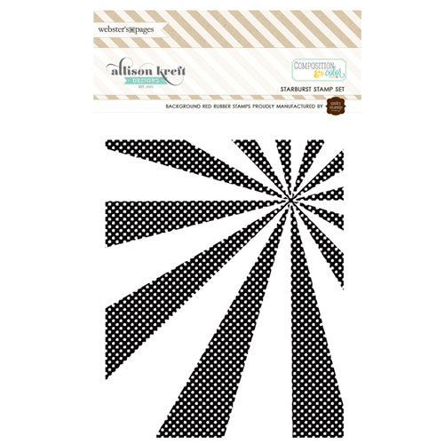 Websters Pages - Composition and Color - Cling Mounted Rubber Stamp Set - Starburst
