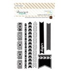 Websters Pages - Composition and Color - Cling Mounted Rubber Stamp Set - Cameras and Arrows