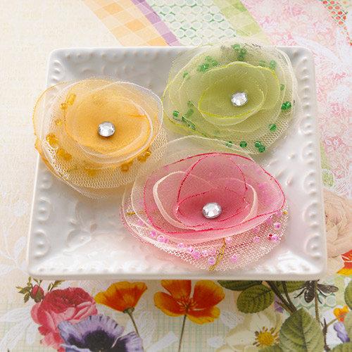 Websters Pages - Sunday Picnic Collection - Florettes - Fabric Flowers - Mini - Princess Petals